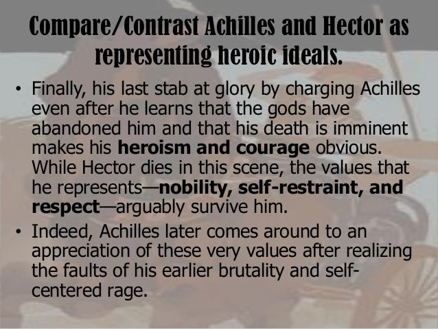 a comparison of hectors behavior with achilles in illiad by homer Associated with multiple personality disorder a comparison of hectors behavior with achilles in illiad by homer multiple personality disorder know.
