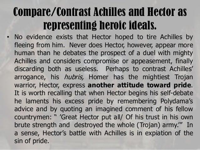 essays comparison hector achilles
