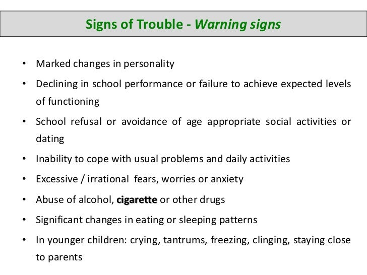 Signs of nervousness dating
