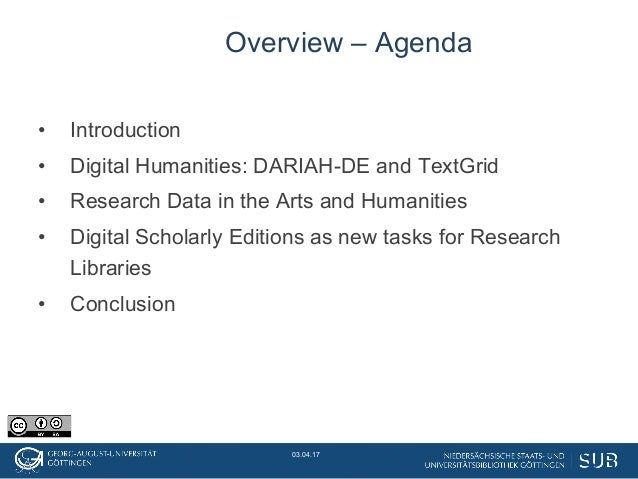 New tasks, new roles: Libraries in the tension between Digital Humanities, Research Data, and Research Infrastructures Slide 2