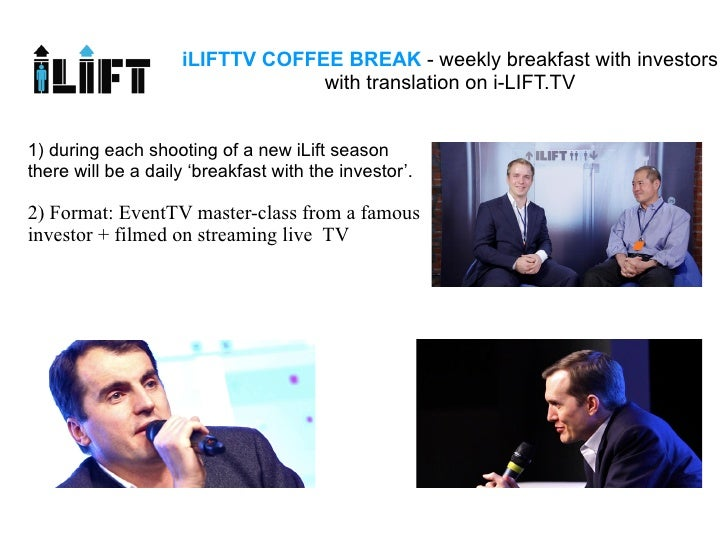 iLIFTTV COFFEE BREAK - weekly breakfast with investors                                 with translation on i-LIFT.TV1) dur...