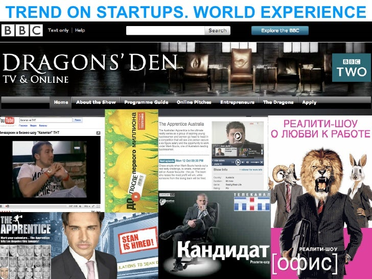 TREND ON STARTUPS. WORLD EXPERIENCE