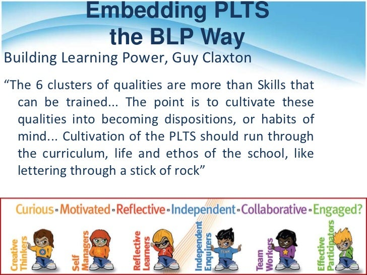 Ililc2 personal learning and thinking skills