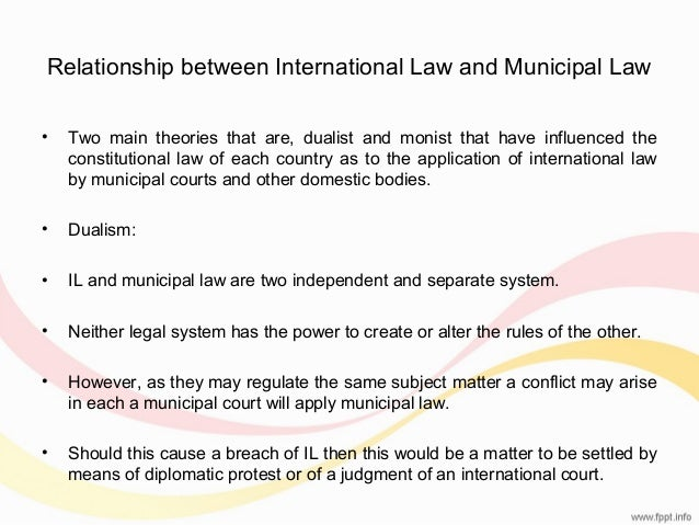 international law and municipal relationship marketing