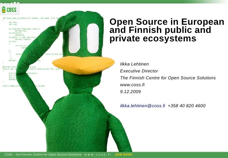 Open Source in European                                                                         and Finnish public and    ...