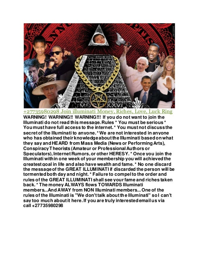 27735980298 Join The illuminati S A - Sign Up with World