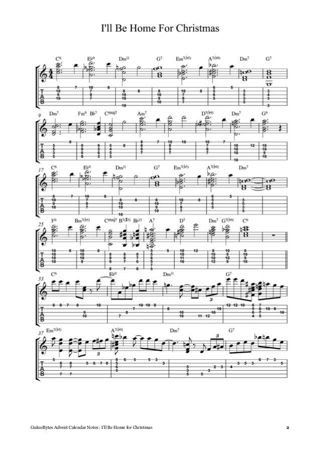 Sheet Music I Ll Be Home For Christmas