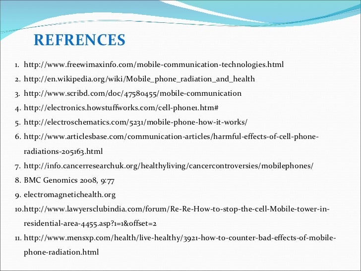 Ill effects of mobile