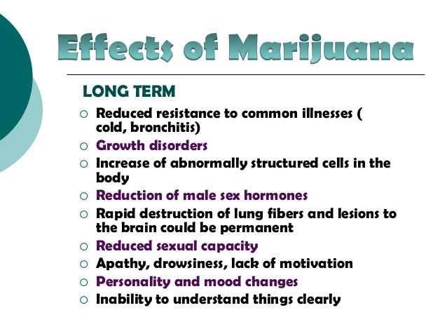 Side effects of weed sexually
