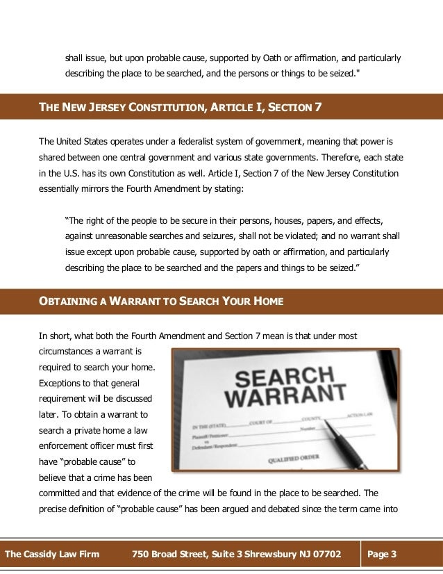4th amendment rights Criminal defense felony crime the 4th amendment and criminal defense probable cause and criminal defense it gives them the right to searcha without reviewing the warrant, it's difficult to give you a.