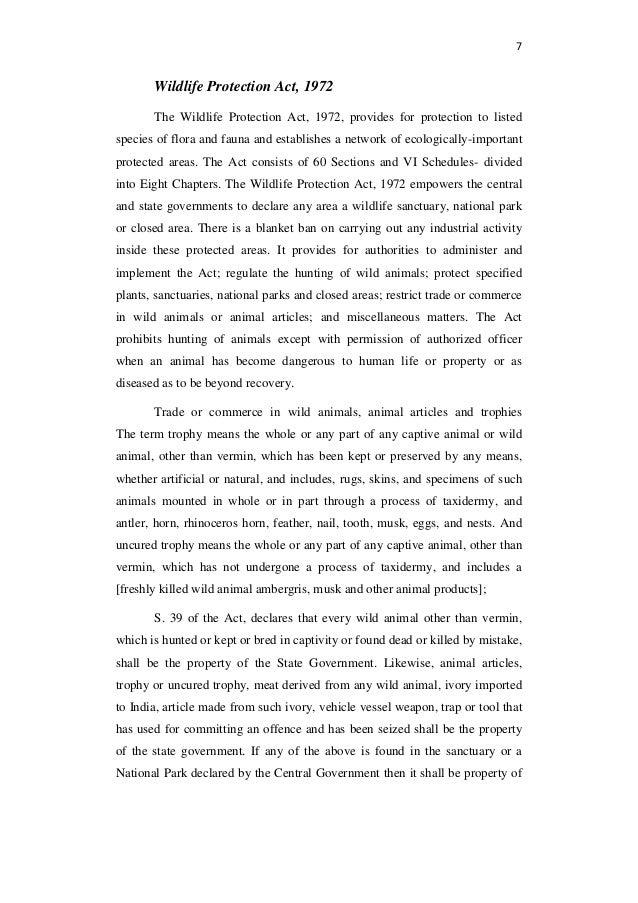 Wildlife protection essay in telugu