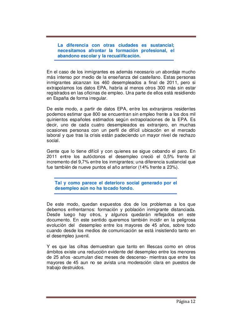 Illescas memoria plan concertado 2011 for Oficina empleo illescas