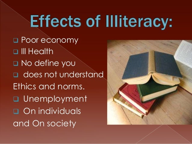 CAUSES OF ILLITERACY