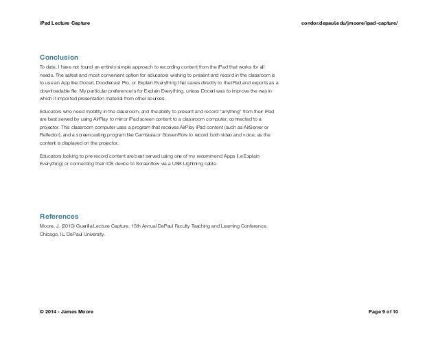 iPad Lecture Capture for Brightspace - Illinois Ignite 2014