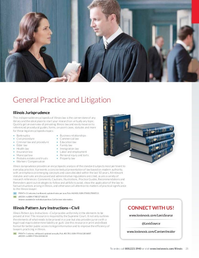 Illinois Catalog Of Legal Resources From LexisNexis Custom Illinois Pattern Jury Instructions Civil