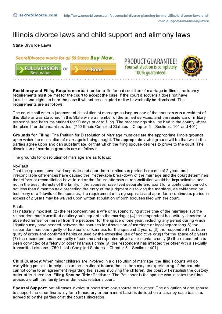 secretdivorce.com         http://www.secretdivorce.com/successful-divorce-planning-for-men/illinois-divorce-laws-and-     ...
