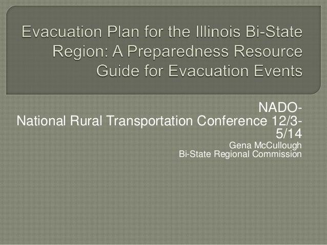 NADO-National  Rural Transportation Conference 12/3-  5/14  Gena McCullough  Bi-State Regional Commission