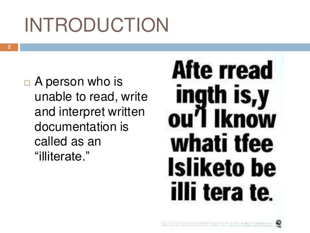 Illiteracy in India Slide 2