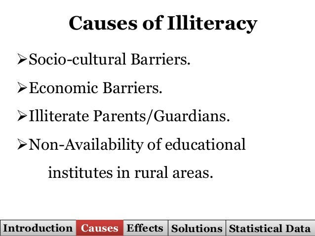 reasons for illiteracy in india