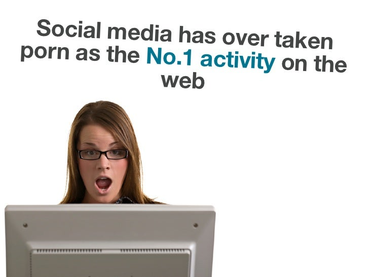 Social media has over t porn as the No.1 activit  aken                         y on the              web