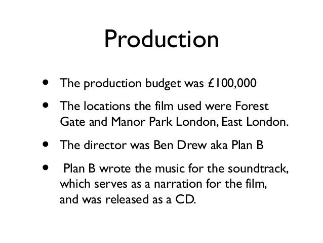 Production•   Filming began September 2010 at    3 Mills Studios, London and filming    lasted for four weeks on location ...