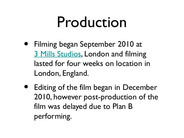 Pressure to raise finance•   In order to raise funds for the completion of    the films post-production, the distribution ...