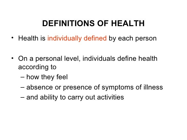 ILLNESS, WELLNESS AND HEALTH , SCOPE OF NURSING Slide 3