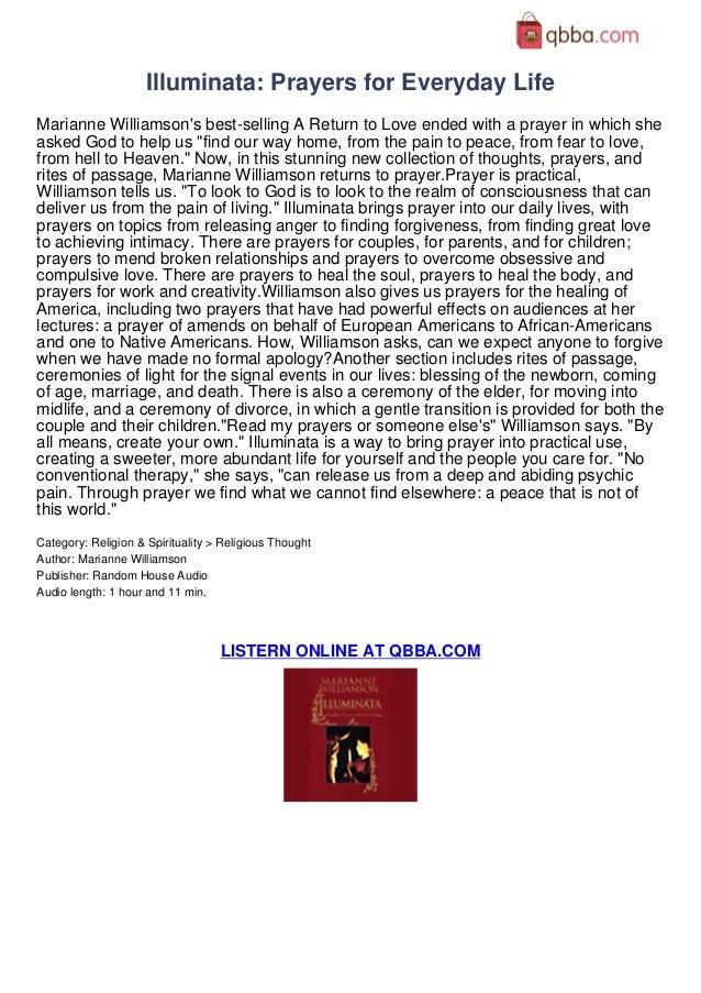 illuminata prayers for everyday life audiobook