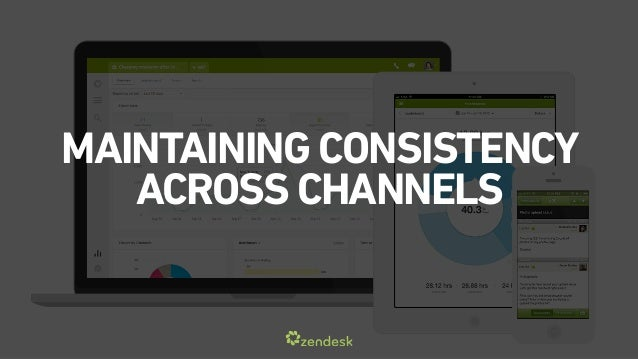 MAINTAINING CONSISTENCY  ACROSS CHANNELS