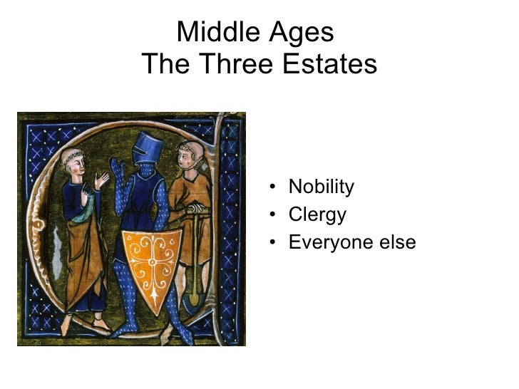 the middle ages 3 essay The transition from the middle ages to the renaissance reflects a time of great change in the way of life at the time during the middle ages life was in read full essay for free.