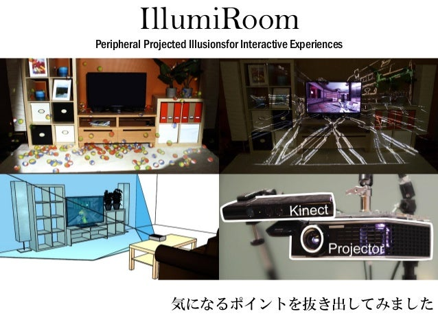 IllumiRoomPeripheral Projected Illusionsfor Interactive Experiences  気になるポイントを抜き出してみました