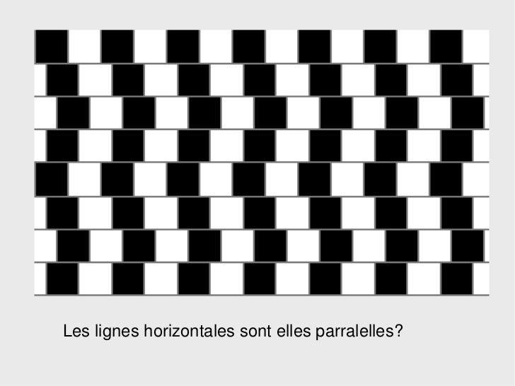 Les lignes horizontales sont elles parralelles?