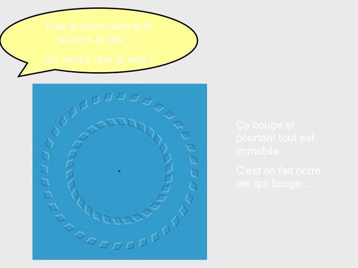 Fixe le point central et avance la tête … Qu'est-ce que tu vois? Ça bouge et pourtant tout est immobile … C'est en fait no...