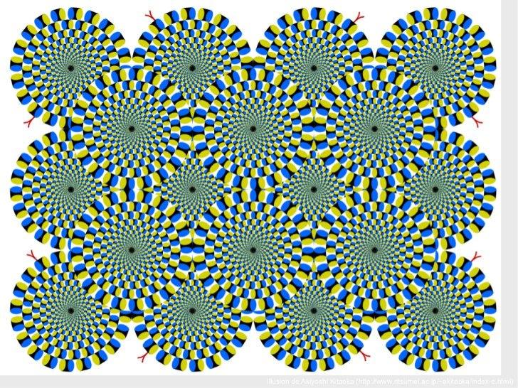 Illusion de  Akiyoshi Kitaoka  (http://www.ritsumei.ac.jp/~akitaoka/index-e.html)