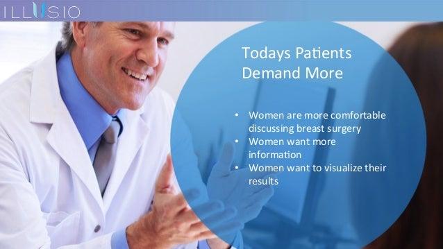 TodaysPa7ents DemandMore • Womenaremorecomfortable discussingbreastsurgery • Womenwantmore informa7on • ...
