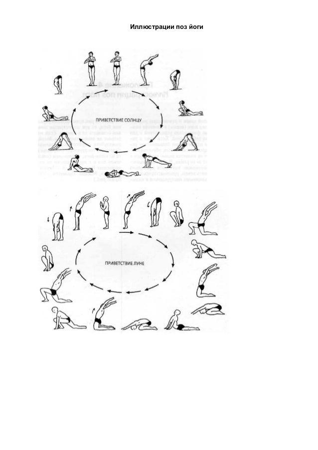 Иллюстрации поз йоги