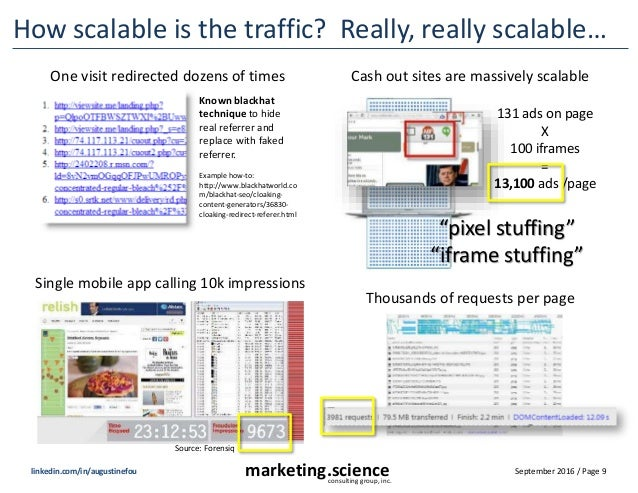 September 2016 / Page 9marketing.scienceconsulting group, inc. linkedin.com/in/augustinefou How scalable is the traffic? R...