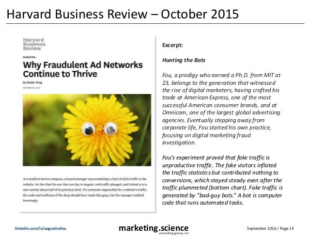 September 2016 / Page 14marketing.scienceconsulting group, inc. linkedin.com/in/augustinefou Harvard Business Review – Oct...