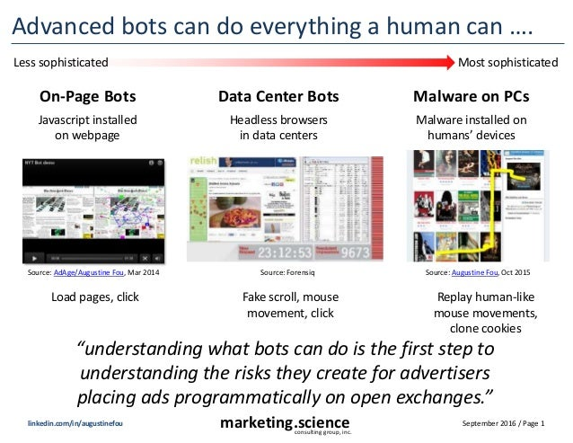 September 2016 / Page 1marketing.scienceconsulting group, inc. linkedin.com/in/augustinefou Advanced bots can do everythin...