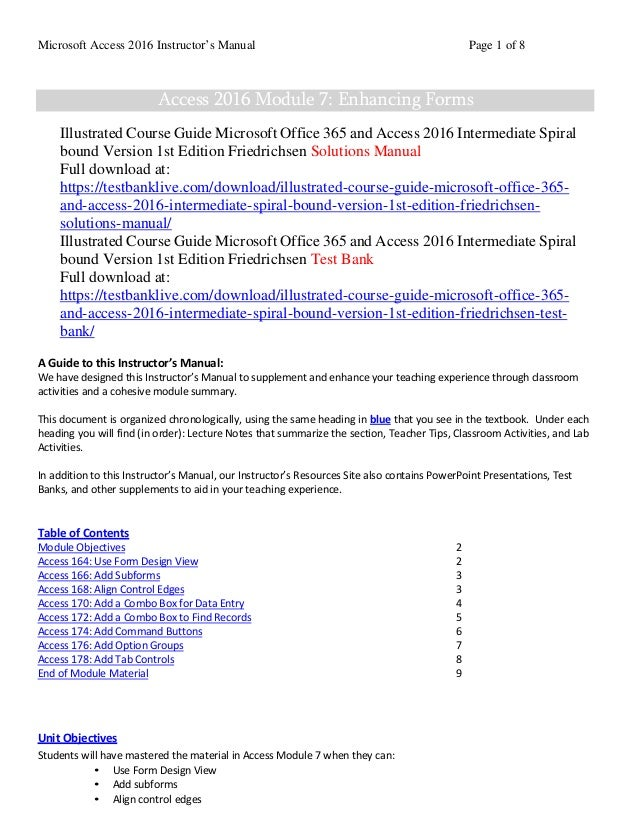 Illustrated course guide microsoft office 365 and access