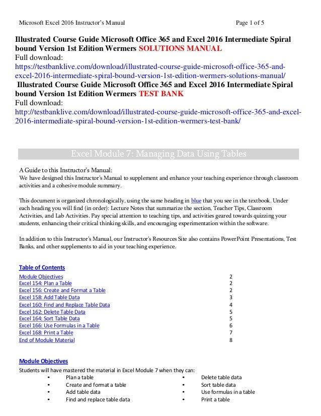 illustrated course guide microsoft office 365 excel 2016 intermediate rh slideshare net