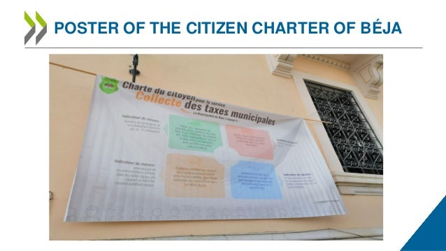 POSTER OF THE CITIZEN CHARTER OF BÉJA