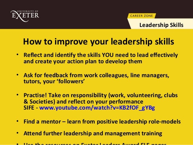how does one improve leadership skills