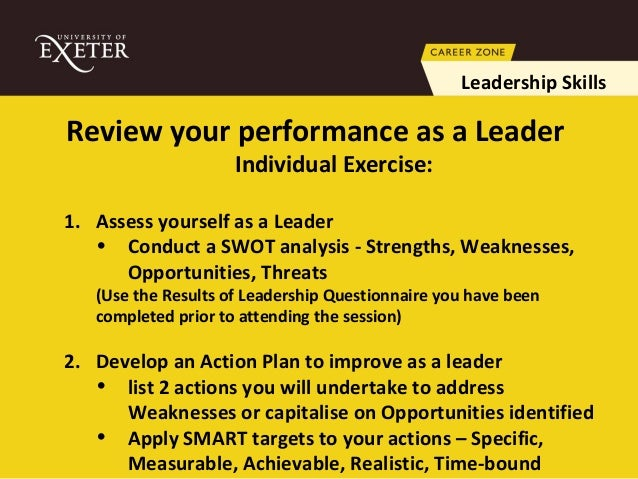 leadership strengths and weaknesses list