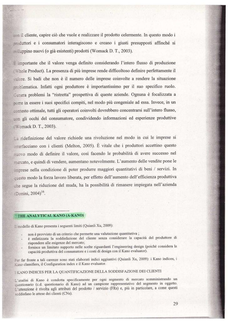 Il modello di kano e l'analytical kano