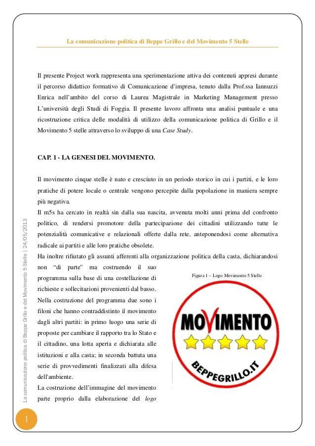 Il movimento 5 stelle paper di comunicazione politica for Esponenti movimento 5 stelle