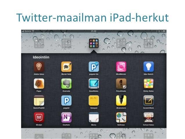 Twitter-maailman iPad-herkut