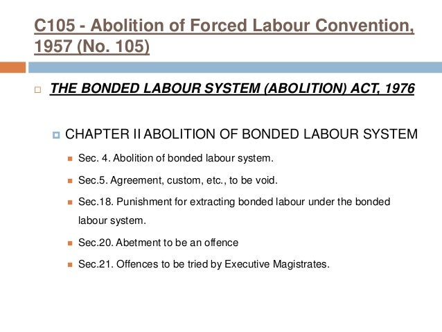 What is bonded labour? Anti-slavery international.