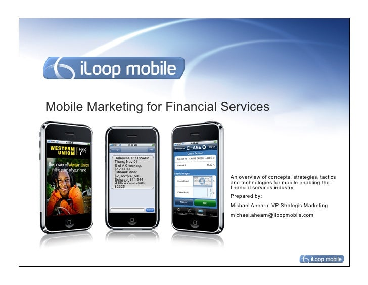 Mobile Marketing for Financial Services            Balances at 11:24AM            Thurs, Nov 06            B of A Checking...