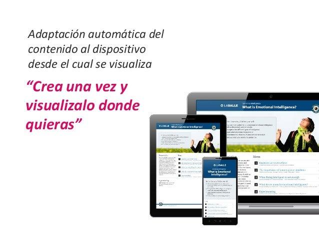 Ventajas mejor  experiencia  de usuario  FÁCIL DE GESTIONAR Y ACTUALIZAR  preparado para la BÚSQUEDA  Reducción de  costes...